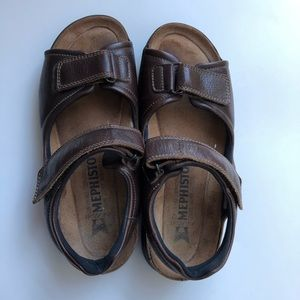 Mephisto leather sandals brown mens size 9
